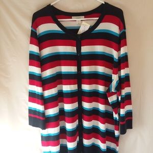 NWT Cj Banks button front sweater